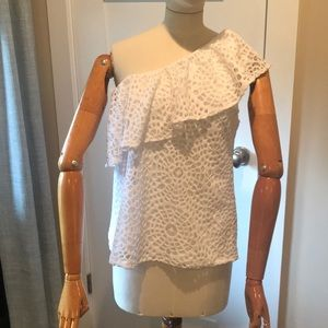 Lilly Pulitzer one shoulder blouse